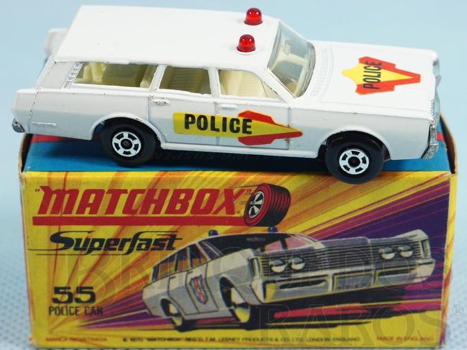 Brinquedo antigo Mercury Commuter Police Car Superfast