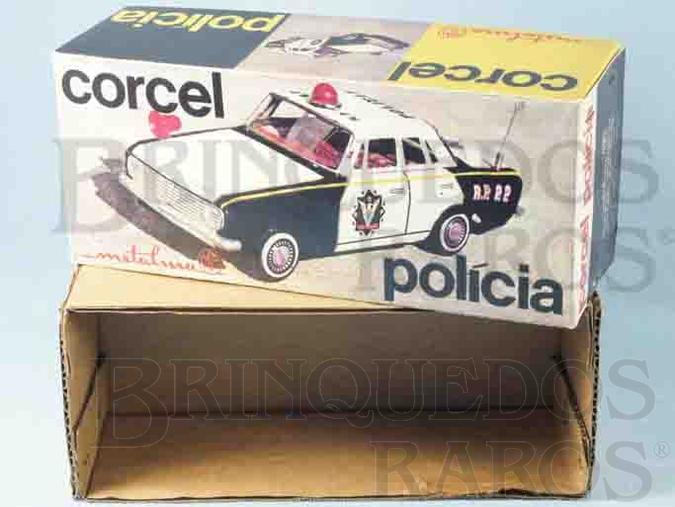 Brinquedo antigo Metalma Caixa Corcel Polícia Ano 1973