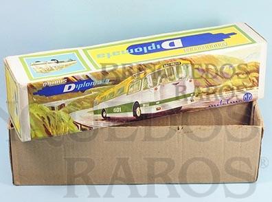 Brinquedo antigo Metalma Caixa Ônibus Diplomata Expresso Brasileiro
