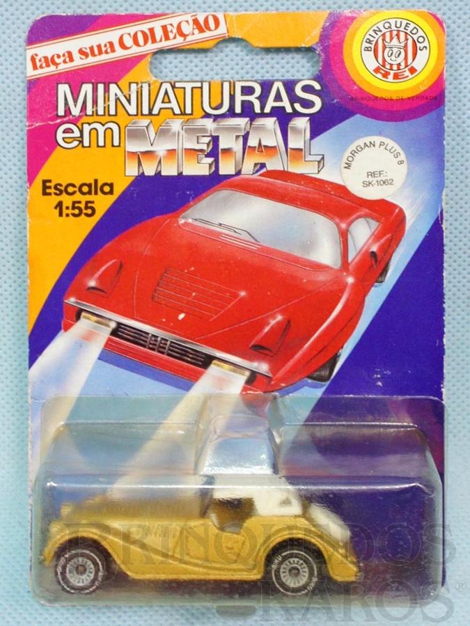 Brinquedo antigo Morgan Plus 8 dourado Brasilianische Siku Blister Lacrado Alfema