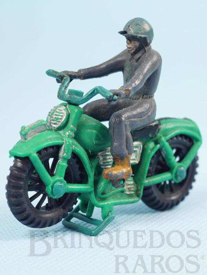 Brinquedo antigo Motocicleta com Motociclista 8,00 cm de comprimento Década de 1970