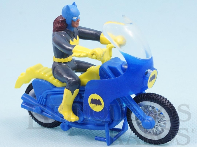 Brinquedo antigo Motocicleta da Batgirl perfeito estado Batgirl Réplica Década de 1970