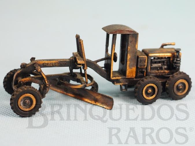 Brinquedo antigo Motoniveladora Huber Warco 10-D com 11,00 cm de comprimento Década de 1970