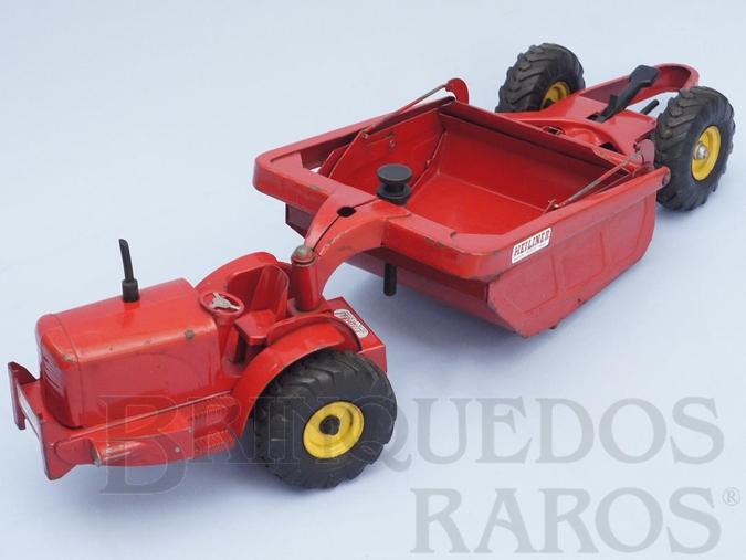 Brinquedo antigo Motor Scraper Heiliner com dispositivo hidráulico operacional 65,00 cm de comprimento Década de 1950 RESERVED***AS***