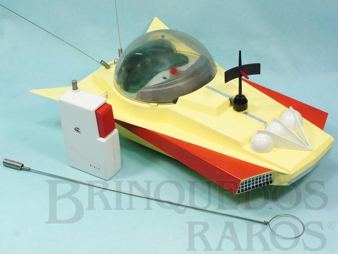 Brinquedo antigo Nave Espacial KX 2000 com 40,00 cm de comprimento Controle remoto via rádio Década de 1960
