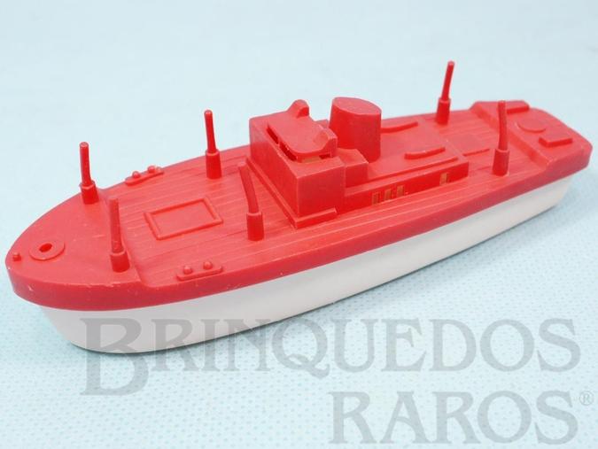 Brinquedo antigo Navio com 12,00 cm de comprimento Coleção Carlos Augusto Década de 1970