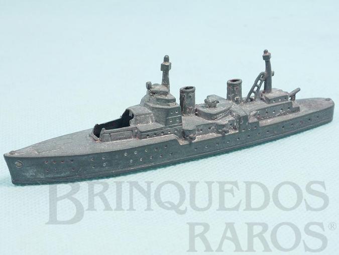 Brinquedo antigo Navio de Guerra com 14,00 cm de comprimento Década de 1950
