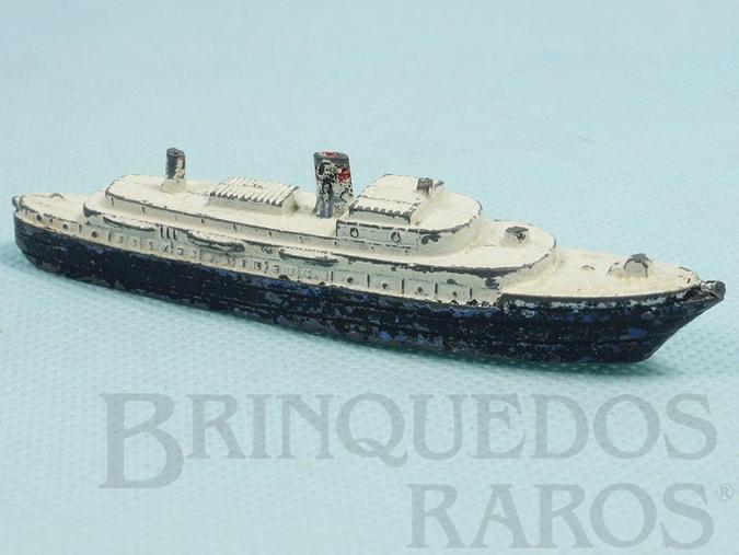 Brinquedo antigo Navio de Passageiros com 10,00 cm de comprimento Década de 1950