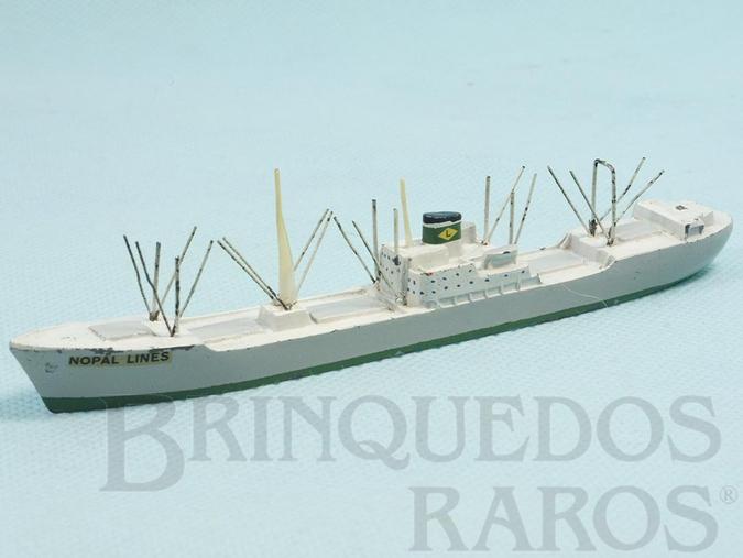 Brinquedo antigo Navio mercante Nopal Lines com 14,00 cm de comprimento Década de 1970