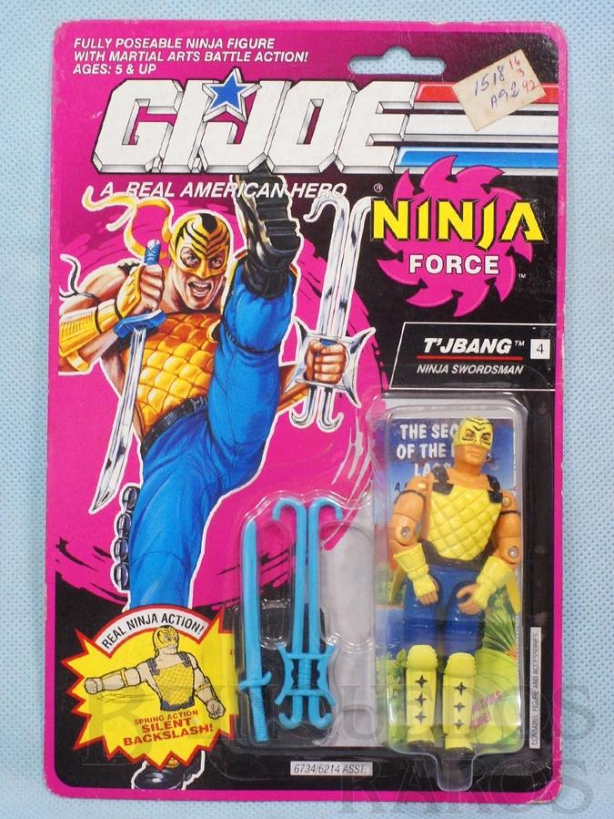 Brinquedo antigo Ninja Force T`jbang completo Blister lacrado Ano 1991
