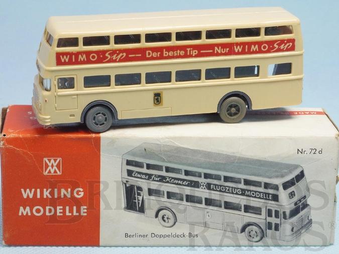 Brinquedo antigo Onibus Berliner Doppeldeck Bus Ano 1963