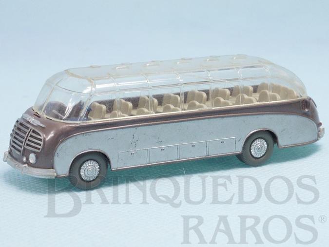 Brinquedo antigo Onibus Setra S8 com teto transparente Década de 1960