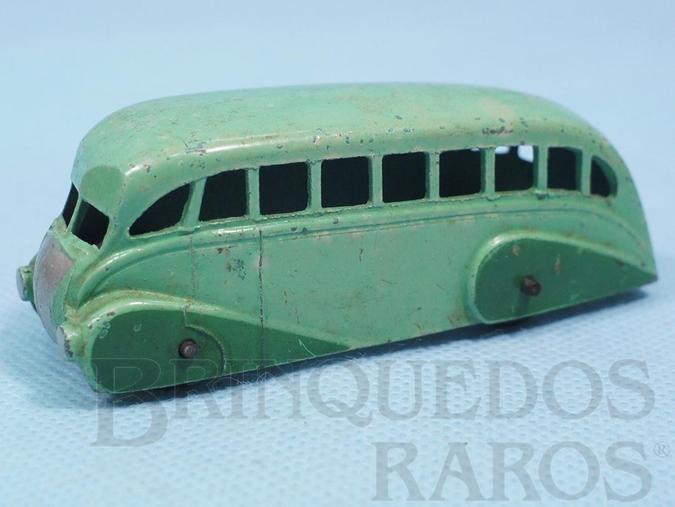 Brinquedo antigo Ônibus Streamline Bus verde Ano 1935 a 1940