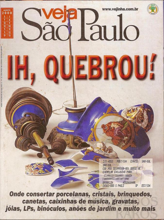 Brinquedo antigo Reportagem Revista Veja São Paulo Agosto de 2000