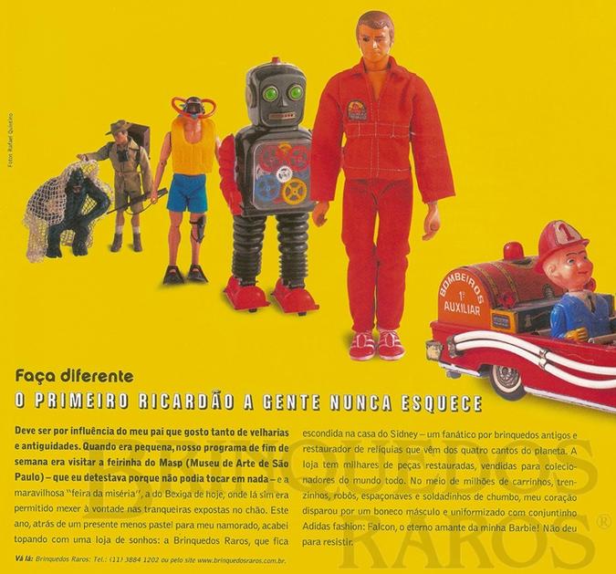 Brinquedo antigo Reportagem Revista TPM Março de 2003