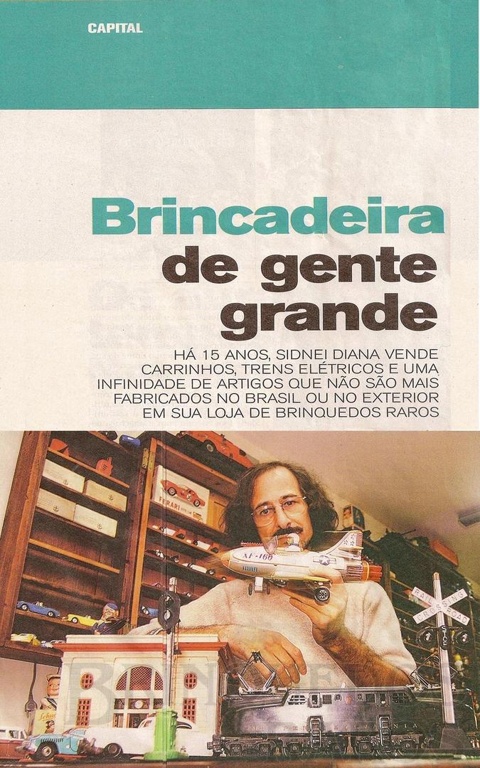 Brinquedo antigo Reportagem Caderno Já Jornal Diário de São Paulo Maio de 2003