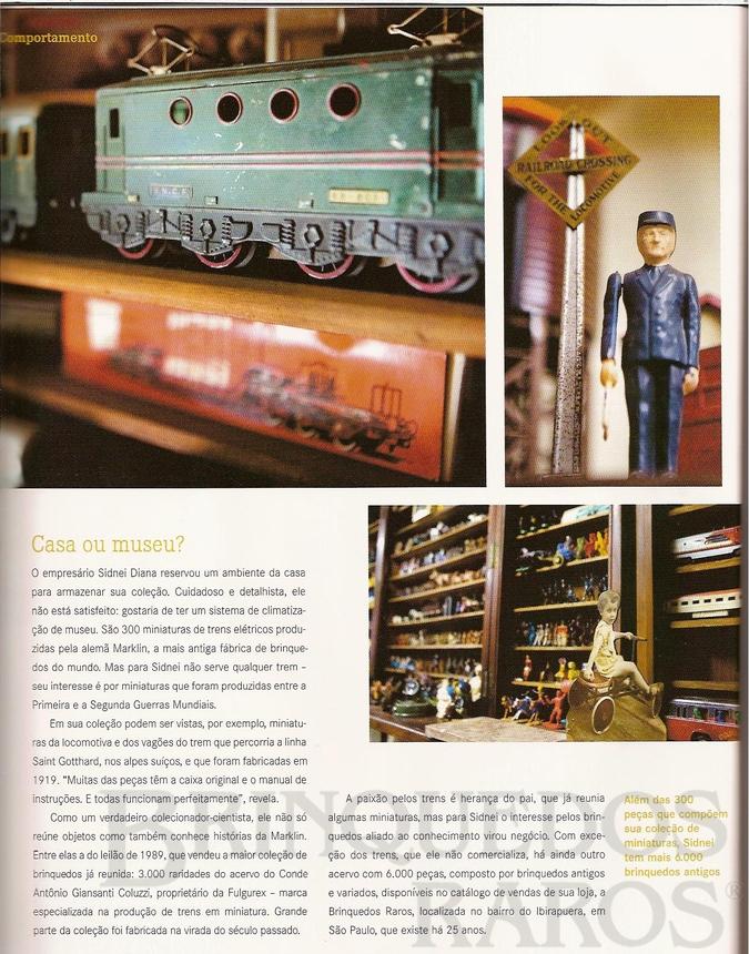 Brinquedo antigo Reportagem Revista Rossi Setembro de 2008