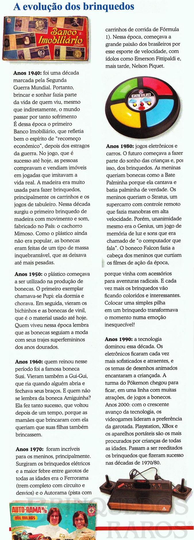 Brinquedo antigo Reportagem Revista Retrô Dezembro de 2007