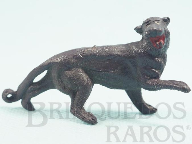 Brinquedo antigo Pantera Negra Séries Zoológico e Safari na África Década de 1960