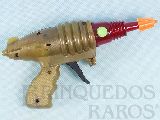 Brinquedo antigo Pistola Espacial com faíscas Lazer Ray Gun Década de 1980