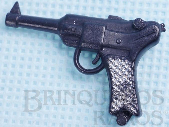 Brinquedo antigo Pistola Luger P8 Aventura Missão Impossível Anos 1978 a 1980