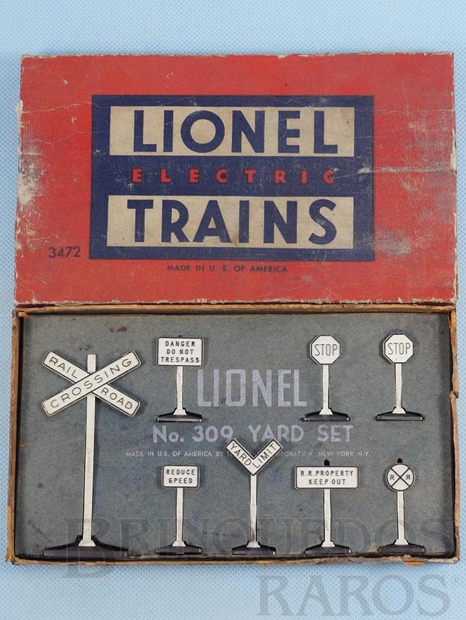 Brinquedo antigo Placas de sinalização 309 Yard Sign Set Ano 1950 a 1959