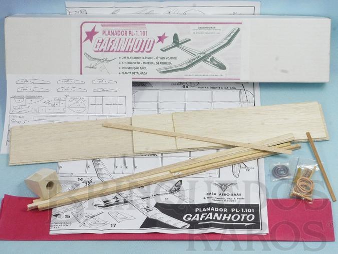 Brinquedo antigo Planador Gafanhoto de madeira balsa entelada com 83,00 cm de envergadura 100% completo perfeito estado Década de 1990