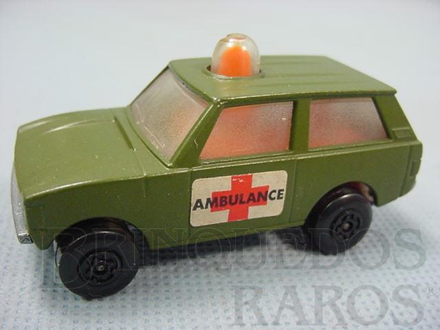 Brinquedo antigo Police Patrol Rola-Matics Militar Ambulance