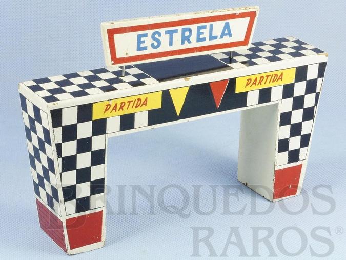 Brinquedo antigo Portal de Partida Ornamento para pistas de Autorama Ano 1963