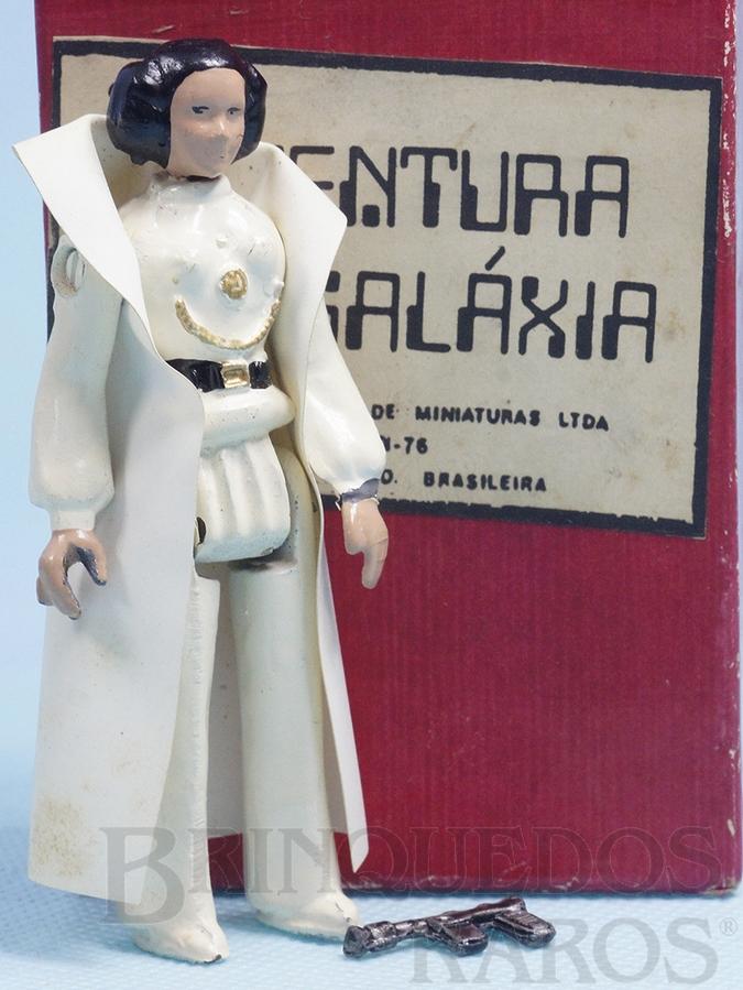 Brinquedo antigo Princesa Leia Organa Completa com Capa e Arma Série Aventura na Galáxia Guerra nas Estrelas Star Wars Ano 1983