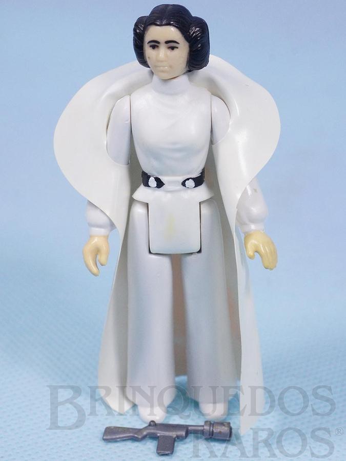 Brinquedo antigo Princesa Leia Organa Star Wars Lucas Film perfeito estado completa com Capa e Arma Década de 1980