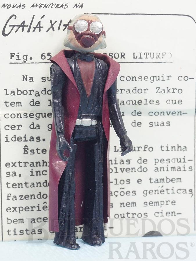 Brinquedo antigo Professor Liturfo Série Novas Aventuras na Galáxia Guerra nas Estrelas Star Wars com Folheto de Apresentação Ano 1983