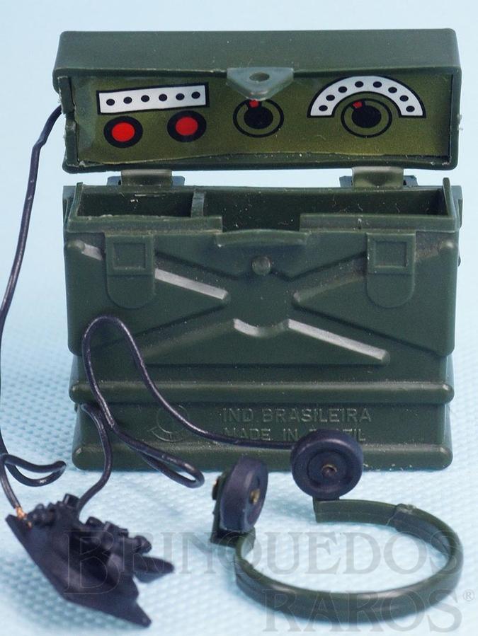 Brinquedo antigo Rádio Aventura Posto de Comando Anos 1978 a 1979