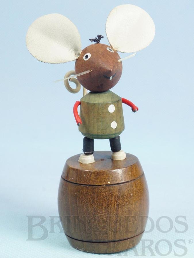 Brinquedo antigo Ratinho de mola com 14,00 cm de altura Década de 1960