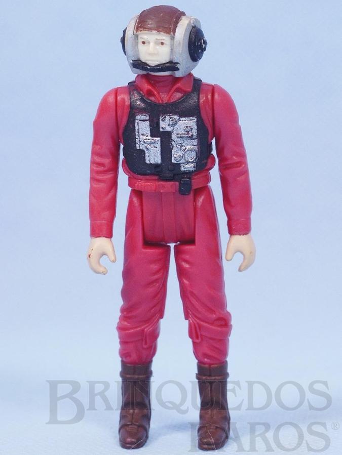 Brinquedo antigo Rebel B-Wing Starfighter Pilot Star Wars Lucas Film Década de 1980