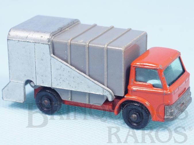 Brinquedo antigo Refuse Truck Black Plastic Regular Weels