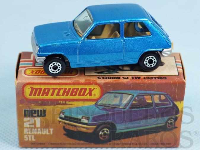 Brinquedo antigo Renault 5 TL Superfast azul metálico