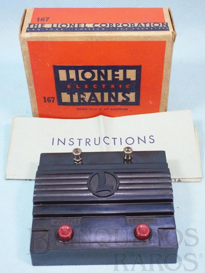 Brinquedo antigo Reversor de marcha e Controle de Apito 167 Whistle Controller Ano 1940 a 1950