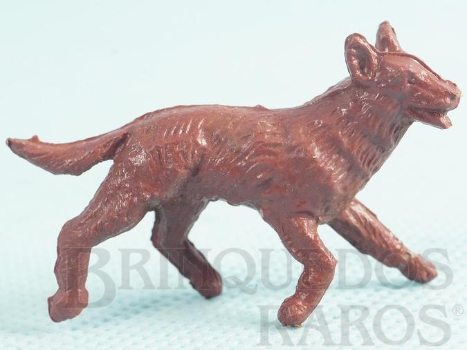 Brinquedo antigo Rin Tin Tin Forte Apache Casablanca numerado 13 marrom