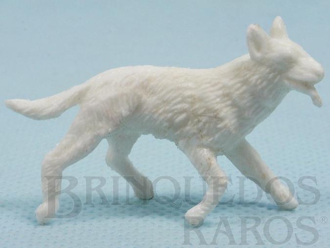 Brinquedo antigo Rin Tin Tin Forte Apache Gulliver branco