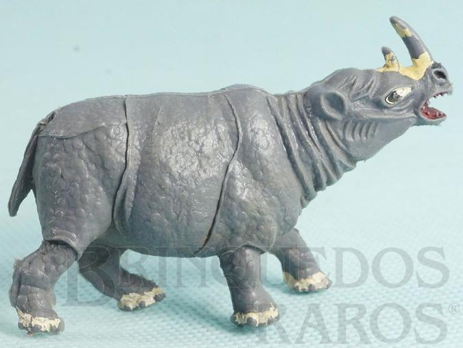 Brinquedo antigo Rinoceronte Série Zoológico Década de 1960
