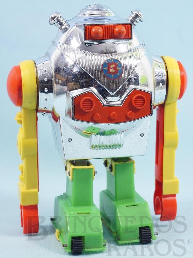 Brinquedo antigo Robot Bam-Bô o Robô que dá cambalhota 22,00 cm de altura Primeira Série Ano 1975