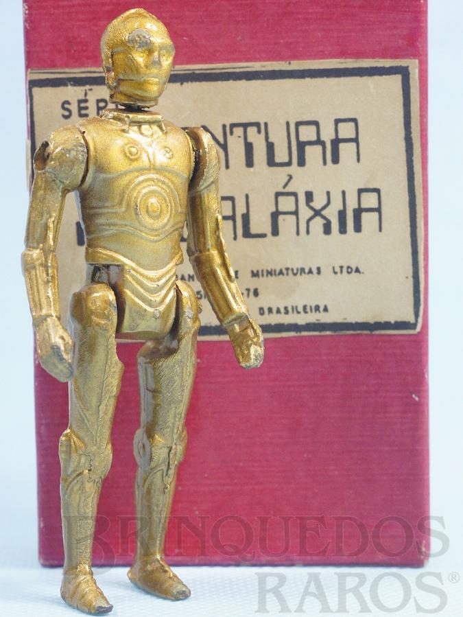 Brinquedo antigo Robot C3PO Série Aventura na Galáxia Guerra nas Estrelas Star Wars Ano 1983