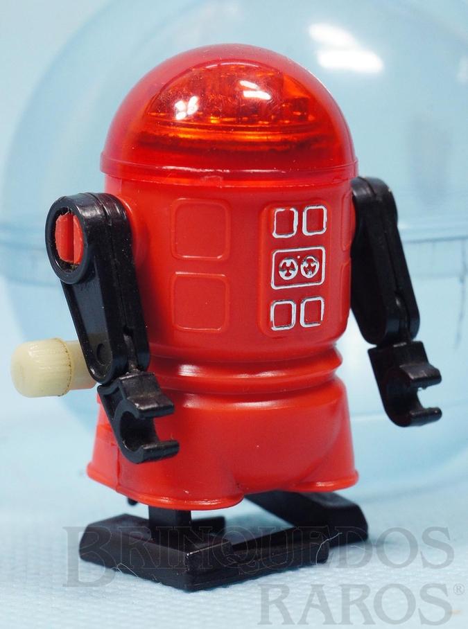 Brinquedo antigo Robozinho Roby Robot Trol vermelho com 5,00 cm de altura Década de 1980