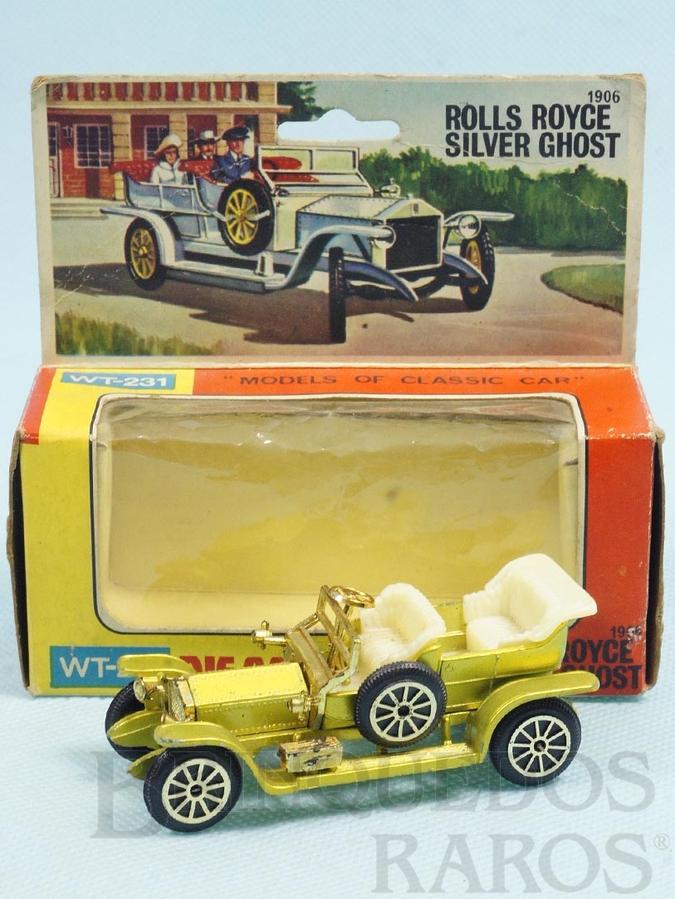 Brinquedo antigo Rolls Royce Silver Ghost com 9,00 cm de comprimento Década de 1970