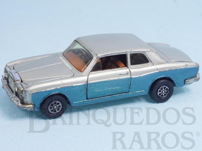 Brinquedo antigo Rolls Royce Silver Shadow azul e prata Década de 1980