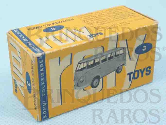 Brinquedo antigo Roly Toys Caixa Kombi Volkswagen Ano 1965
