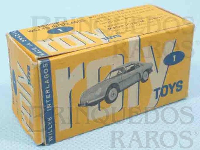 Brinquedo antigo Roly Toys Caixa Willis Interlagos Ano 1965