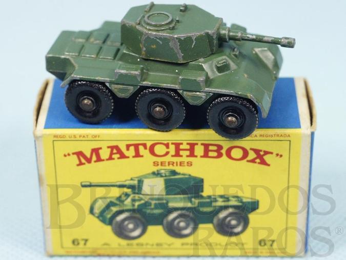 Brinquedo antigo Saladin Armoured Car 6x6 Black Plastic Regular Wheels