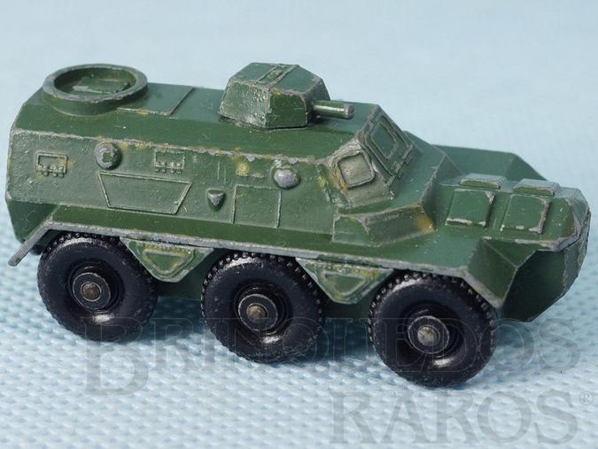 Brinquedo antigo Saracen Personnel Carrier Black Plastic Regular Wheels
